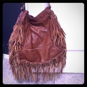 All saints leather fringe tote